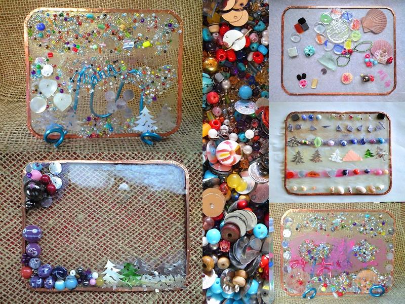 ガラス遊び ビーズ,ボタン、貝殻、マニキュアなど使い放題