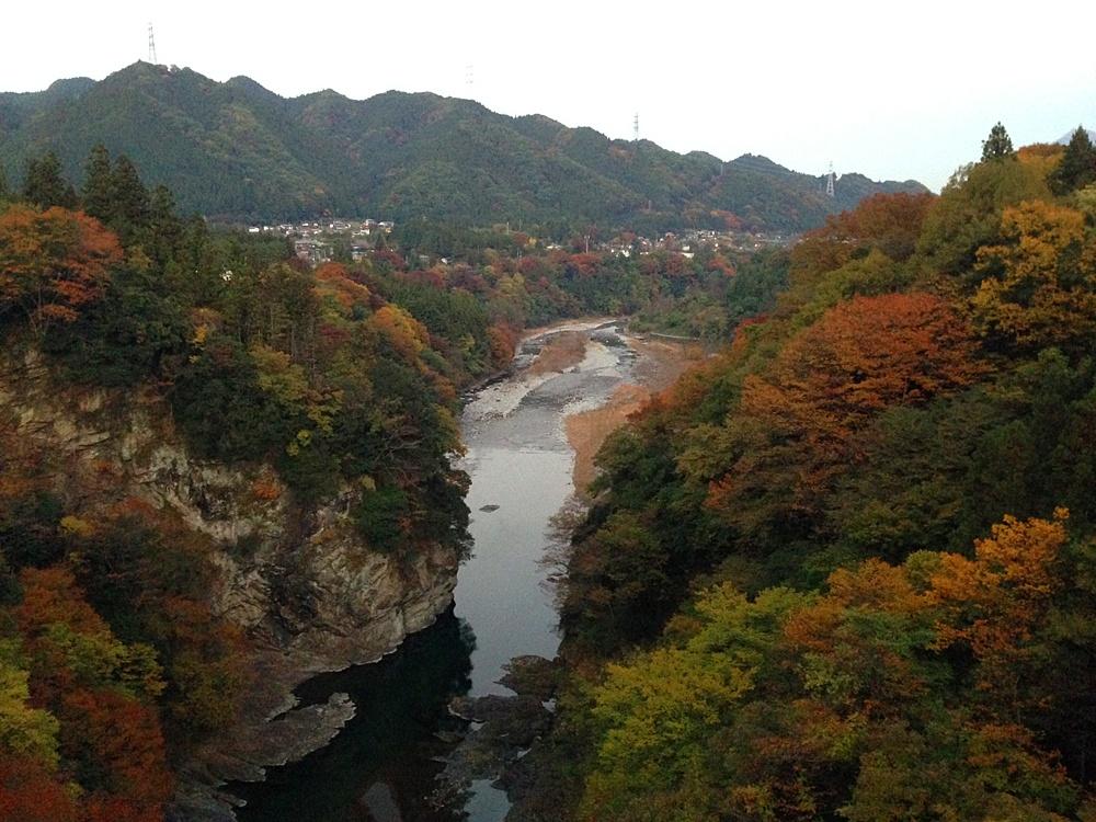 白川橋から東京方面の紅葉