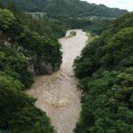 台風の過ぎた後の荒川