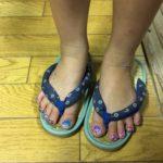 足の指までキラキラ