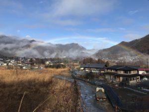 3月1日谷津川館からの坂道