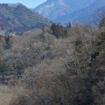 遠くに武甲山、眼下に荒川
