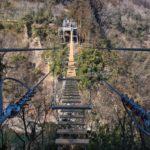 渡りきった吊り橋