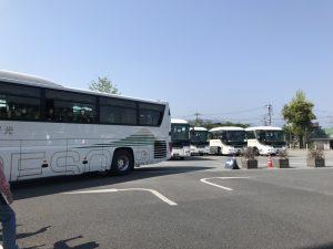 大阪からバス5台