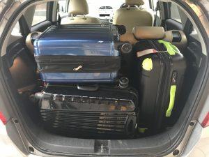 旅行のスーツケースって大きい!