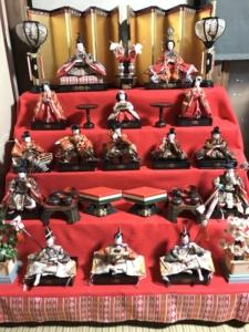 昭和30年代の雛飾り