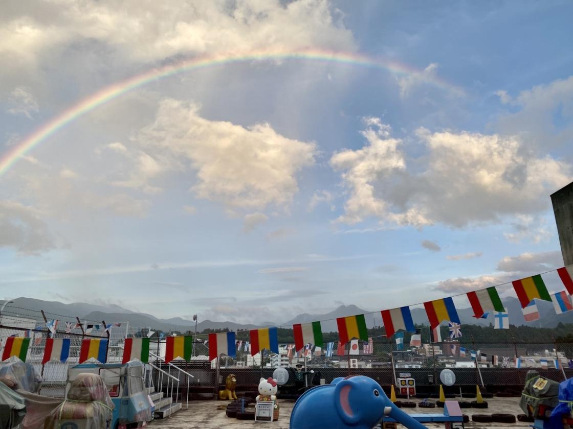 矢尾百貨店屋上の虹